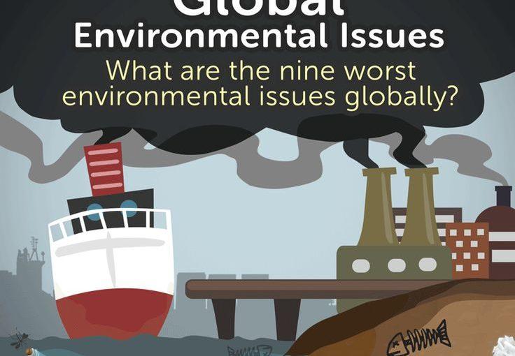อะไรคือสิ่งที่เลวร้ายที่สุด 9 ประเด็นด้านสิ่งแวดล้อมทั่วโลก? ปัญหาด้านล่างแสดงถึง t …